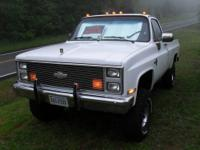 Classic 1985 Chevy 4x4 Truck in really great shape and
