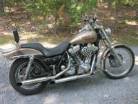Fast, Fast, Fast!!! Wide Glide front end, belt drive,