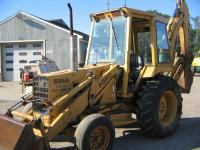 1985 Ford 555A XL tractor loader backhoe up for