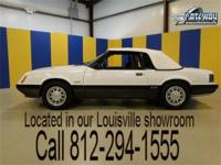 1985 Ford Mustang GT Convertible. This fox body mustang