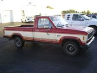 1985 Ford Ranger, 2wd, Long box, 5-speed manual