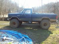1985 Ford Ranger Mud Truck, it has 44 inch tires and a