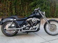 Harley Davidson FXR Low Rider Evo Blk and chrome Raked