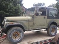 1985 Jeep CJ7 4X4 with ~ 119K Original Miles. Hardtop 6