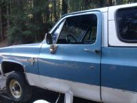 IM PARTING THIS 1985 K5 OUT IT HAS BLUEINTERIOR AND HAS