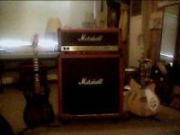 1985 marshall jcm800 head w/mastr vol, matching slant