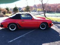 1985 Carrera Cab 3.2 5 spd Guards Red on Black. Bullet