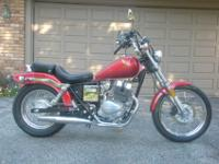 1985 Honda Rebel 250 with just 534 miles. There is no