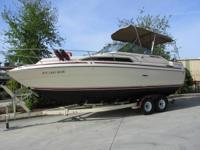 1985 Sea Ray 260.  This is a clean, regional boat