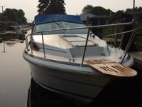 27ft. 10ft. beam. Twin 190 Mercruiser engines and
