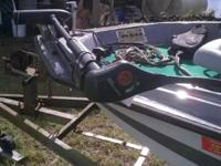 75 hp mercury engine runs, trolling motor, trailor in
