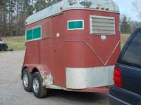 Horse Trailer can be used for stock or two horse. Nice