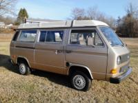 1985 VW Vanagon GL Westfalia Camper model. This Westy