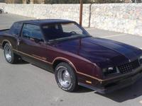 Really cool 85 Monte Carlo ss !! This car has a rebuilt