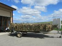 1986 skillfully painted Camouflage Alumicraft Boat with