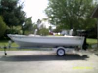 Great 16' MirroCraft aluminum fishing boat or can be