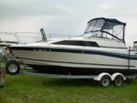 For sale a 1986 24' 8' beam Bayliner Ceria with its