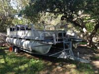 1986 Starcraft 24 foot Pontoon boat. Furniture is taken