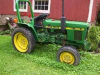 1986 750 John Deere. Only 600 hours. Rear grader blade,