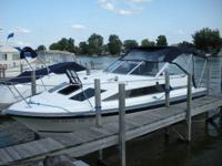 Shed Job-- Had to Market Boat.  This Bayliner 2550