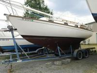 SAILBOAT, 1986 Cape Dory, 26'. Full keel, diesel mower,
