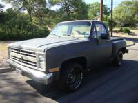 This 1986 Chevrolet C10 . Truck features a 4.3L V6 4BL