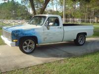 This is a Customized 1986 Chevrolet Pickup Muscle Truck