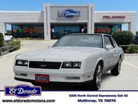 1986 Chevrolet Monte Carlo 2Dr Coupe SS Our Location