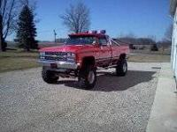 1986 Chevrolet truck for sale. Fully restored.
