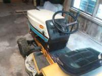 1986 cub cadet ridding mower. Runs good. New starter,
