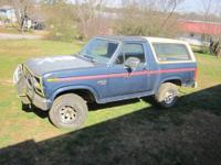86 4X4 Bronco Manual Transmission Motor has less than