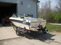 1986 Glassport 17.5 ft V hull Runabout 3.7 Mercruiser