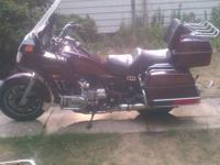 I have an 86 Honda Goldwing for sale. It runs a little