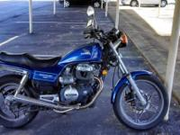 This bike is in great condition. It's a 450cc engine, 6