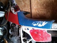 For sale is a Honda XR250R in fair condition. It runs