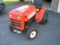 It has a 16 hp Kolher motor. It has Ag/Bar tires all