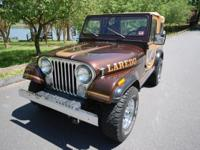 1986 JEEP CJ-7 LAREDO BROWN/ORIGINAL HONEY WHITCO SOFT