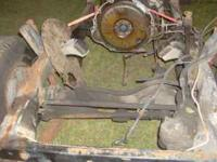 86 Jeep Grand Wagoneer running gear and frame. Front