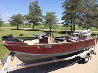 16 foot boat. 1988 Johnson 48 spl outboard. Lowrance