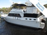 This 1987 Mainship has a substantial beauty salon and a