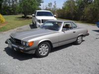 1986 Mercedes-Benz 560SL. Rate - $9,200. Gas mileage -