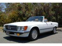 "1986 MERCEDES BENZ 500 SL ""EURO MODEL"" Newly arrived at"
