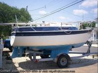 BEAUTIFUL 1986 19 FT. SAILBOAT, TWIN KEEL WITH 2 FT.