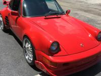 1986 Porsche 911 Carrera 3.2 RWD Widebody.  Turbo body