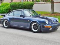 1986 Porsche 911 Carrera Coupe -5 Speed Manual with Low