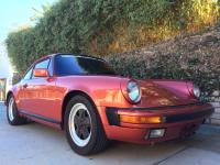 1986 PORSCHE 911 Coupe Brick Red Metallic / Black
