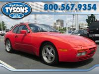 Decent 1986 Porsche 944 Turbo Coupe. Red over black