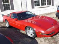1986 Red chevy Corvette ZR1. 104,793 miles. Manual