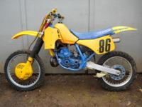 For Sale: This dirt bike is incomplete, (the engine is