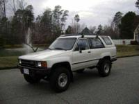 1986 Toyota 4 Runner Deluxe Classic Truck This 1986